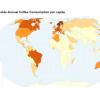 Потребление кофе в мире