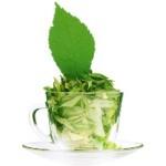 Здоровье и жизненный тонус с чашкой мятного чая
