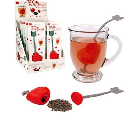 Сеточка для заварки чая в виде сердца, пронзённого стрелой