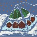Нарисованный кофе пейзаж