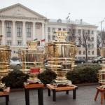 В Запорожье заваривали чай в самоварах-гигантах