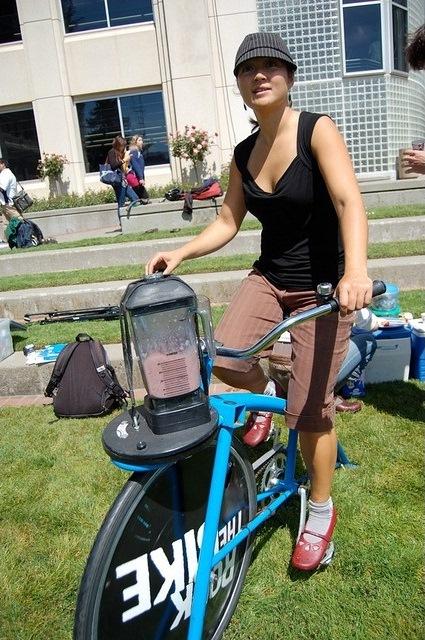 Велосипед поможет заварить кофе и зарядить гаджеты