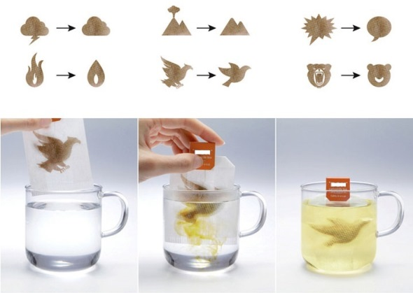 Чайные пакетики, меняющие злую картинку на добрую после заваривания
