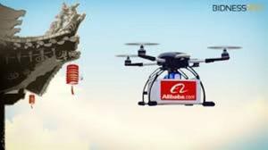 Alibaba начал экспериментальную доставку имбирного чая дронами
